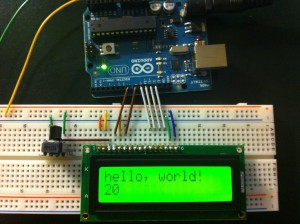 LCD Display - Hello World Example