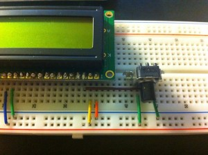 Potentiometer für den Kontrast des LCD Displays