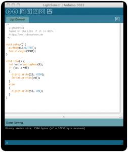 Arduino mit Lichtsensor - Programmcode