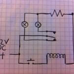 12V Schaltung mit 2 LEDs und Relais