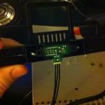 Infrarot Sensor in der Stoßstange verklebt
