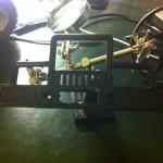 Loch für Infrarot Distanz Sensor in der Stoßstange