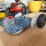 Asuro - Achsen angelötet und erster optischer Test