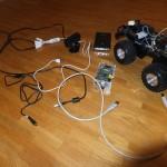 Die benötigten Teile für unseren Raspbery Pi - Arduino Roboter
