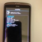 Installation des ICS ROMs für das HTC Desire abgeschlossen
