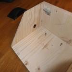 Seitenteile verbaut und Löcher gebohrt