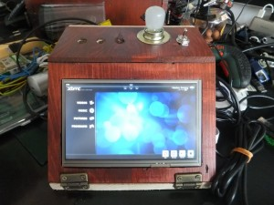 Touchscreen running with XBMC and inside self made case