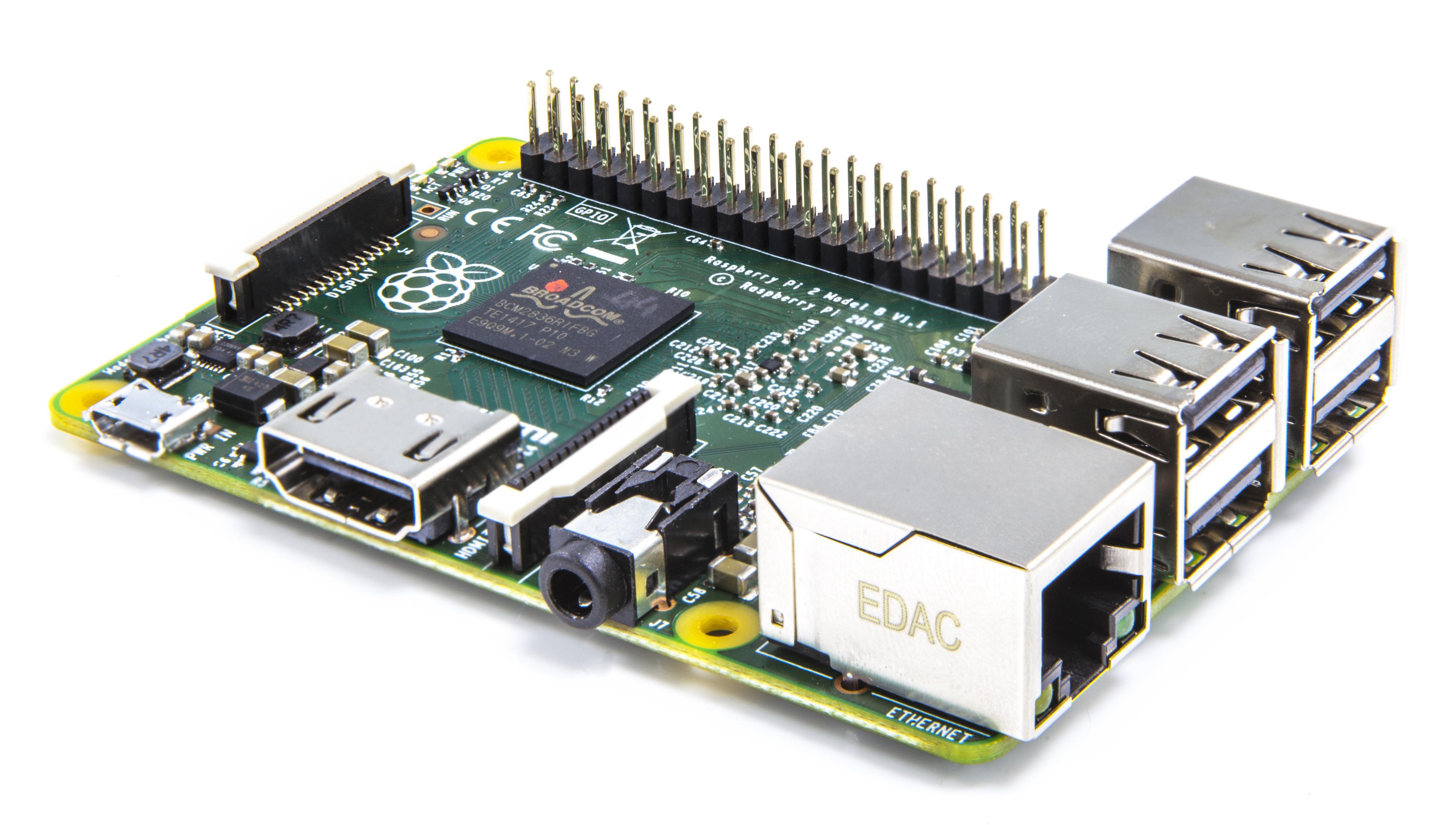 Raspberry Pi 2 – Modell B Quadcore 900Mhz 1GB RAM
